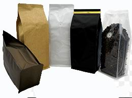 Paper Plastic Pocket Zipper Flat Bottom Coffee Bags