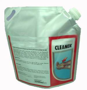 Plastic Stand Up Cleaner Powder Bags