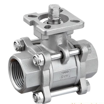 20003000WOG Three Piece Ball Valve