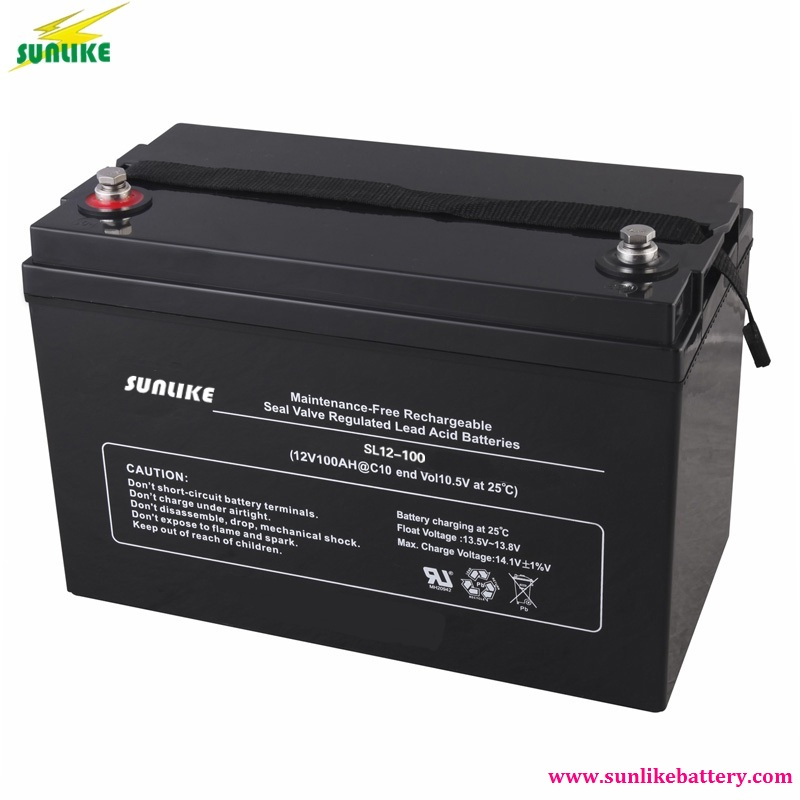 Solar Deep Cycle AGM Battery UPS VRLA Battery 12V100ah with 12years Life
