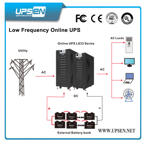 Large Low Frequency Online UPS 100kVA Compatible with Generator