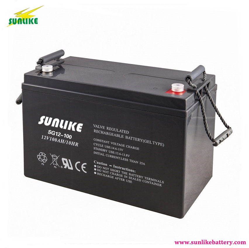 SUNLIKE 12V 100ah-250ah Deep Cycle Solar Battery Gel Battery for solar