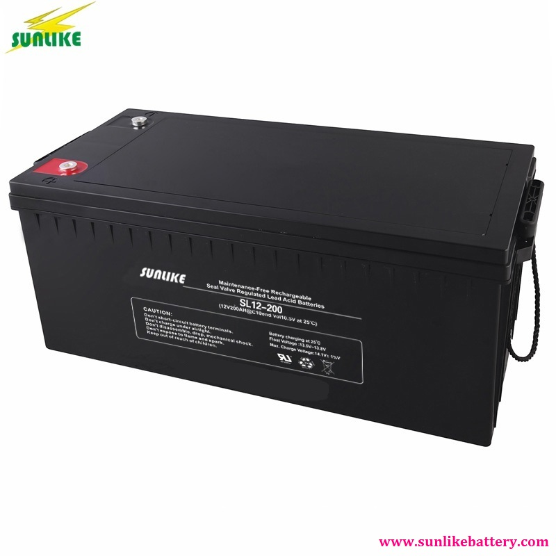 Solar Lead Acid Battery 12V200ah with 3years Warranty