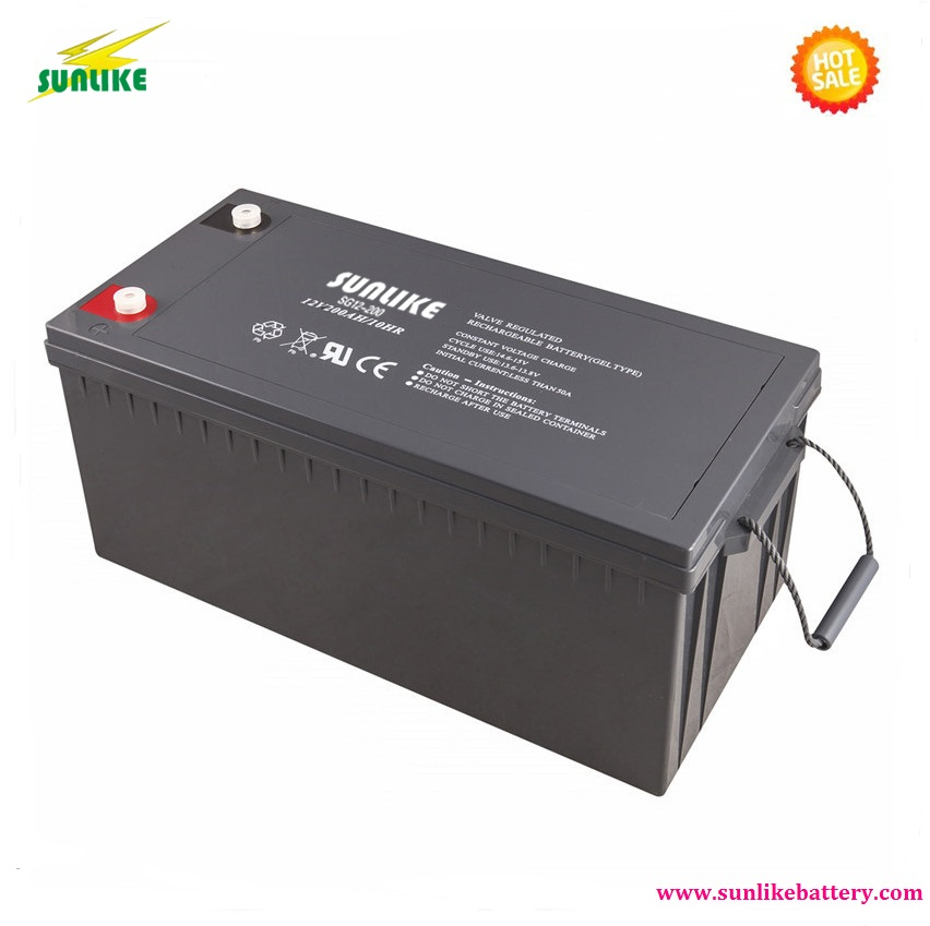 SUNLIKE UPS Battery Solar Gel Battery 12V 200ah Battery Backup PowerSUNLIKE UPS Battery Solar Gel Battery 12V 200ah Battery Backup Power