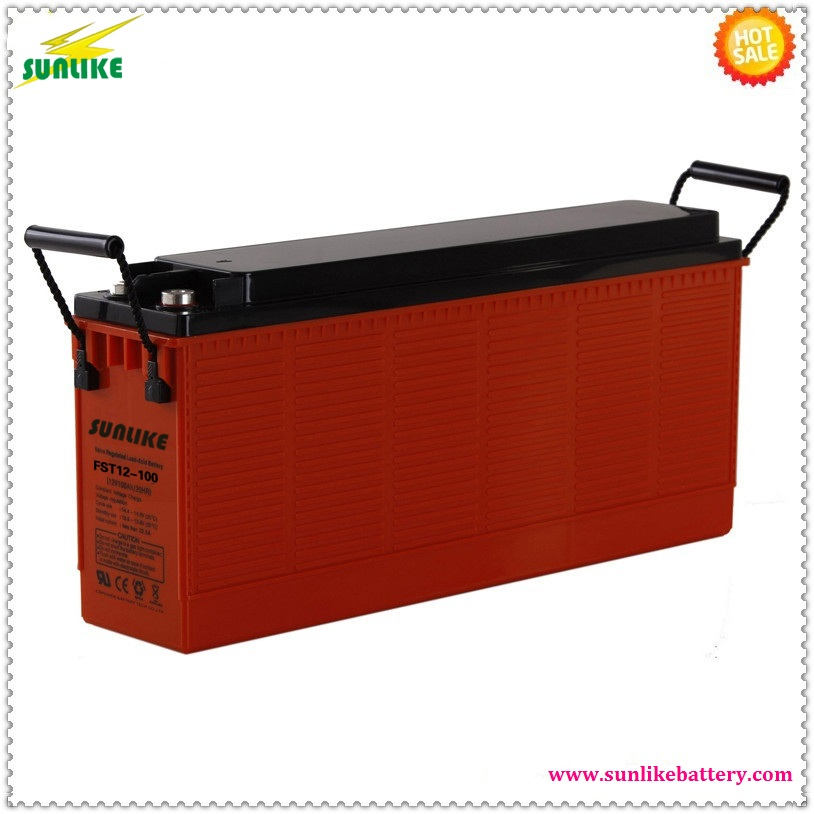 Factory Offer SUNLIKE Front Terminal Battery 12V 100ah Deep Cycle Battery