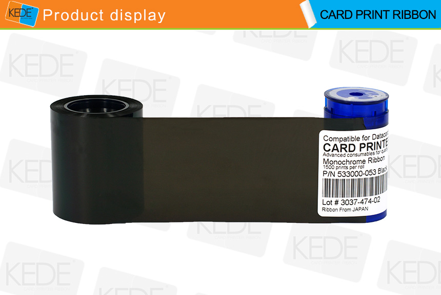 Monochrome Compatible Printer Ribbon for Datacard 533000-053 Black
