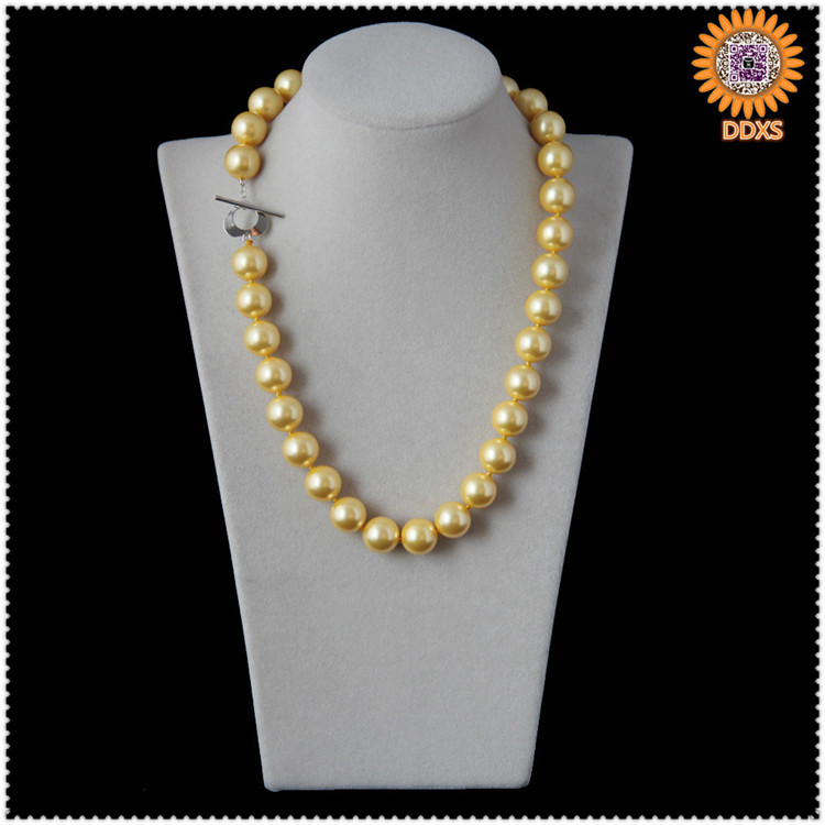 on sale!wholesale 8mm high quality south sea shell pearl necklace