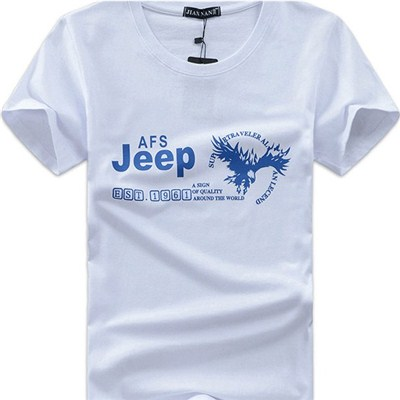 2015 Spring And Summer AFSJeep Eagle Short Sleeve T-shirt, Men''s Cotton Round Neck T-shirt,Welcome To Sample Custom