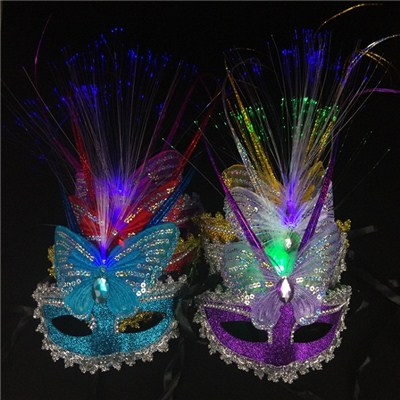 2015 Light Rain Optical Mask, Colorful Butterfly Princess Party A Halloween Party Mask,Welcome To Sample Custom