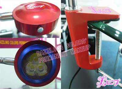 Which lamp is bright ? Which kind of lamp is used for permanent makeup ?