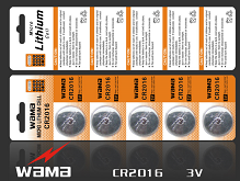 CR2016 Lithium Button Cell Battery