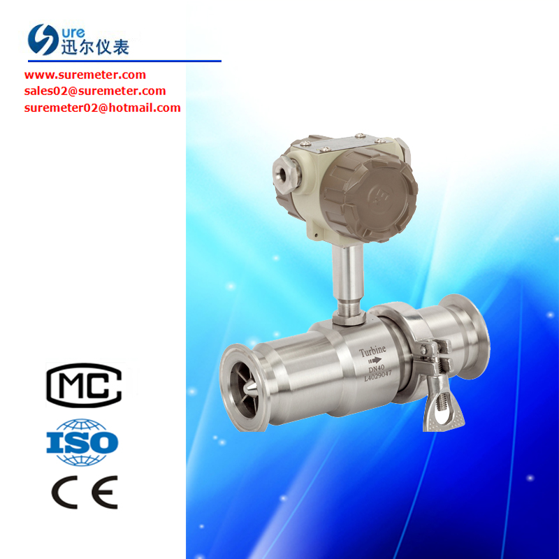 Liquid Turbine Flow Meter LWGY Series for Low Viscous Fluids