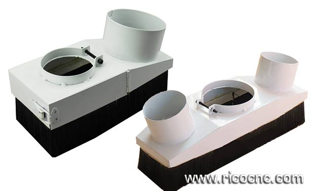 DIY CNC Dust Shoes Cover Dust Boots Dust Brush Dust Skirt Dust Shroud for Router Table Dust Collection