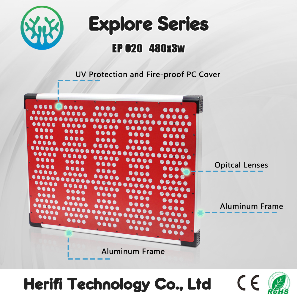 2016 herifi best selling cheap 2400watt led grow lighting for indoor plant growth