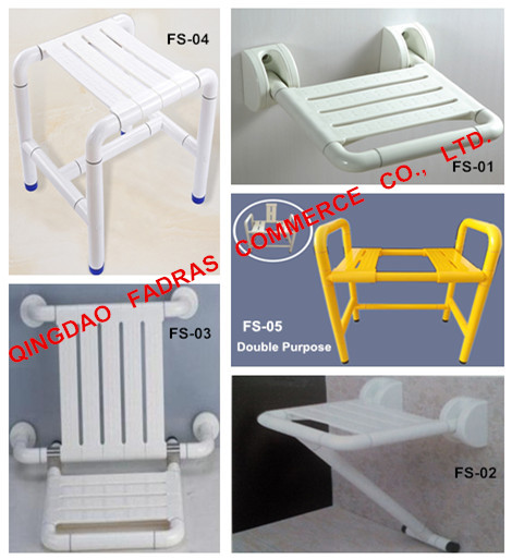 Bathroom Fold-up Shower Chairs for Disabled Elderly People, Toliet Seat
