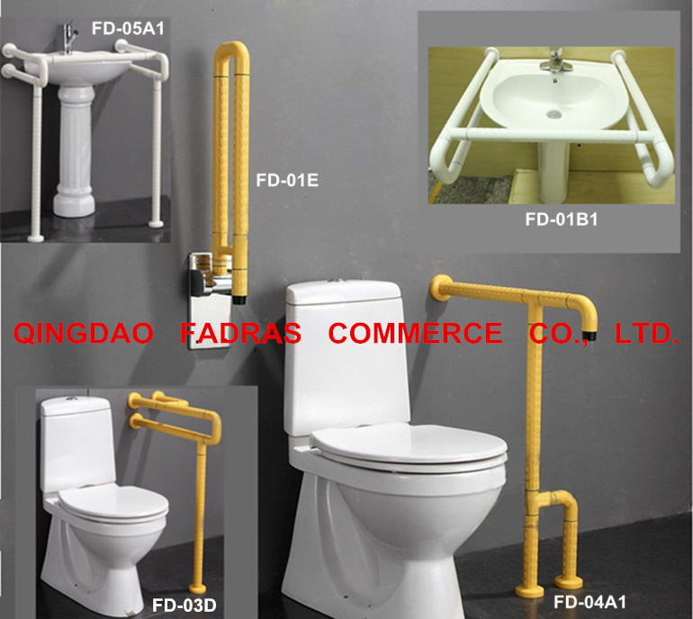 Bathroom Disabled Handrails/Toilet Plastic Grab Bar for Elderly
