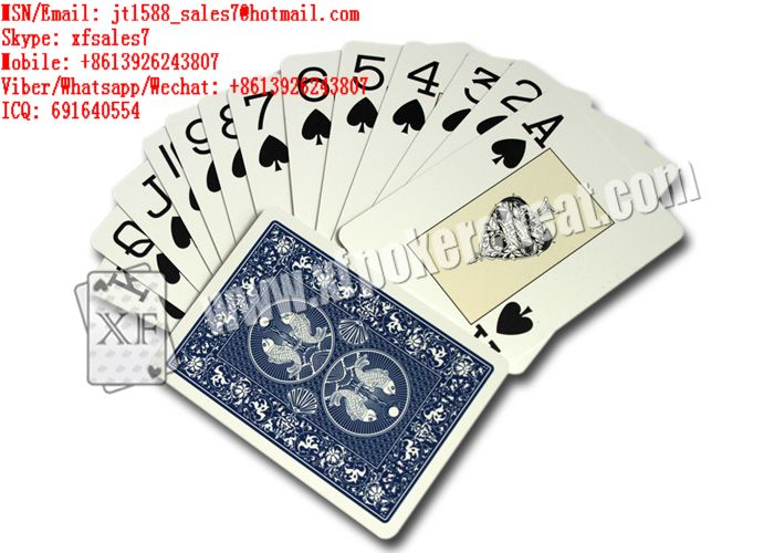 XF DAL-NEGRO Plastic Playing Cards With Invisible Markings For Analyzer And Eye Contact  / marked cards china / poker cheat / texas hold em cheat / Omaha cheat / cheat in poker / cheat poker