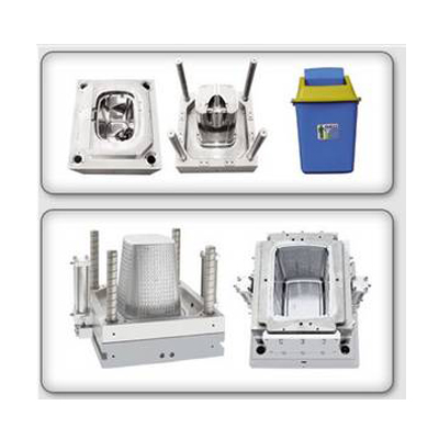 Plastic Office Dustbin Injection Mold Maker
