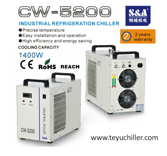 Small Industrial Chiller for 500- 1500 W LED UV Curing system