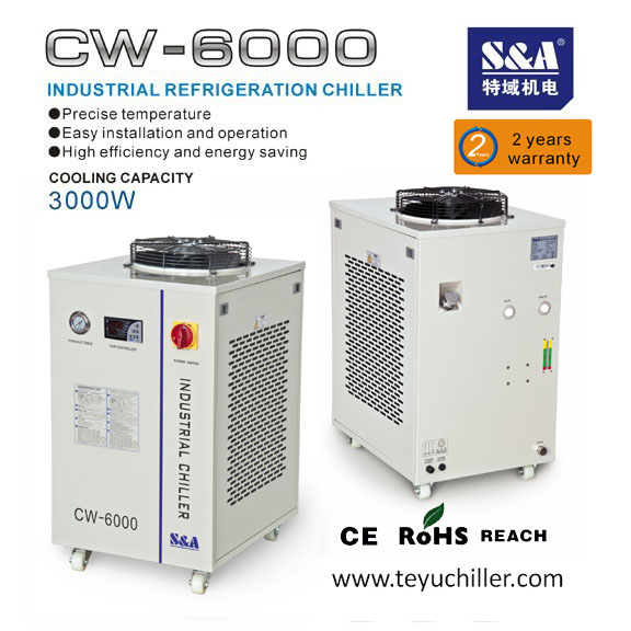 S&A water cooled chiller CW-6000 for 13kw spindle HITECO