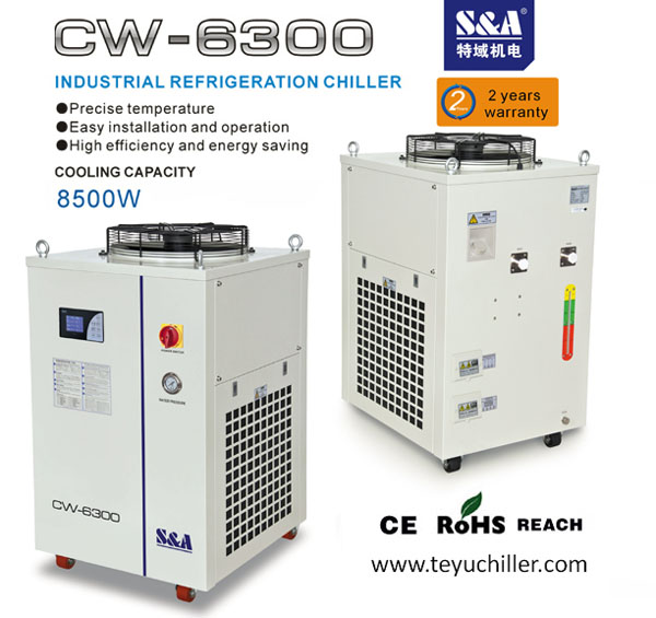S&A laser chiller CW-6300 for 250W rofin metal tubes co2