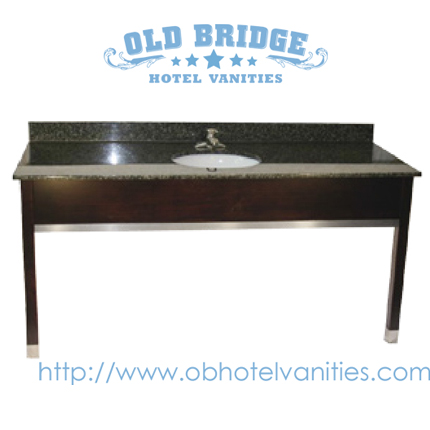 Hotel Bathroom Vanity Base with Solid Wood Legs
