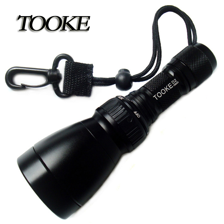 TOOKE D2 Cree T6 1000Lumen Strong light Led Diving Flashlight