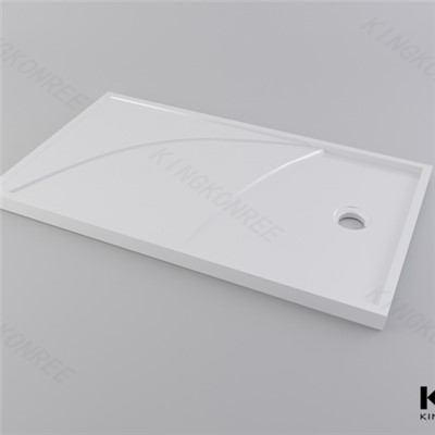 American Style Solid Surface Flat Shower Tray