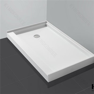 Kingkonree Bathroom Sets Acrylic Irregular Shower Tray