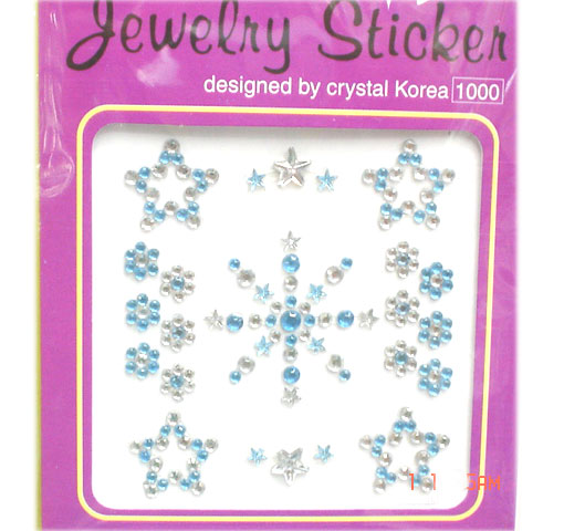 Acrylic crystal sticker
