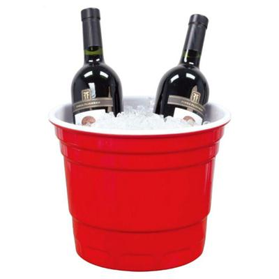Melamine Red Party Ice Bucket