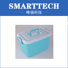 White And Blue Color Plastic Big Box Mould