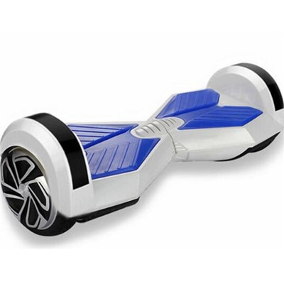 SELF-BALANCING SCOOTER 8 Inch HOVERBOARD WITH SAMSUNG CERTIFIED BATTERY(WHITE AND BLUE)