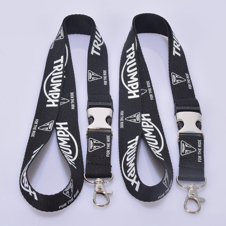 Custom polyester neck straps no minimum order lanyard free sample