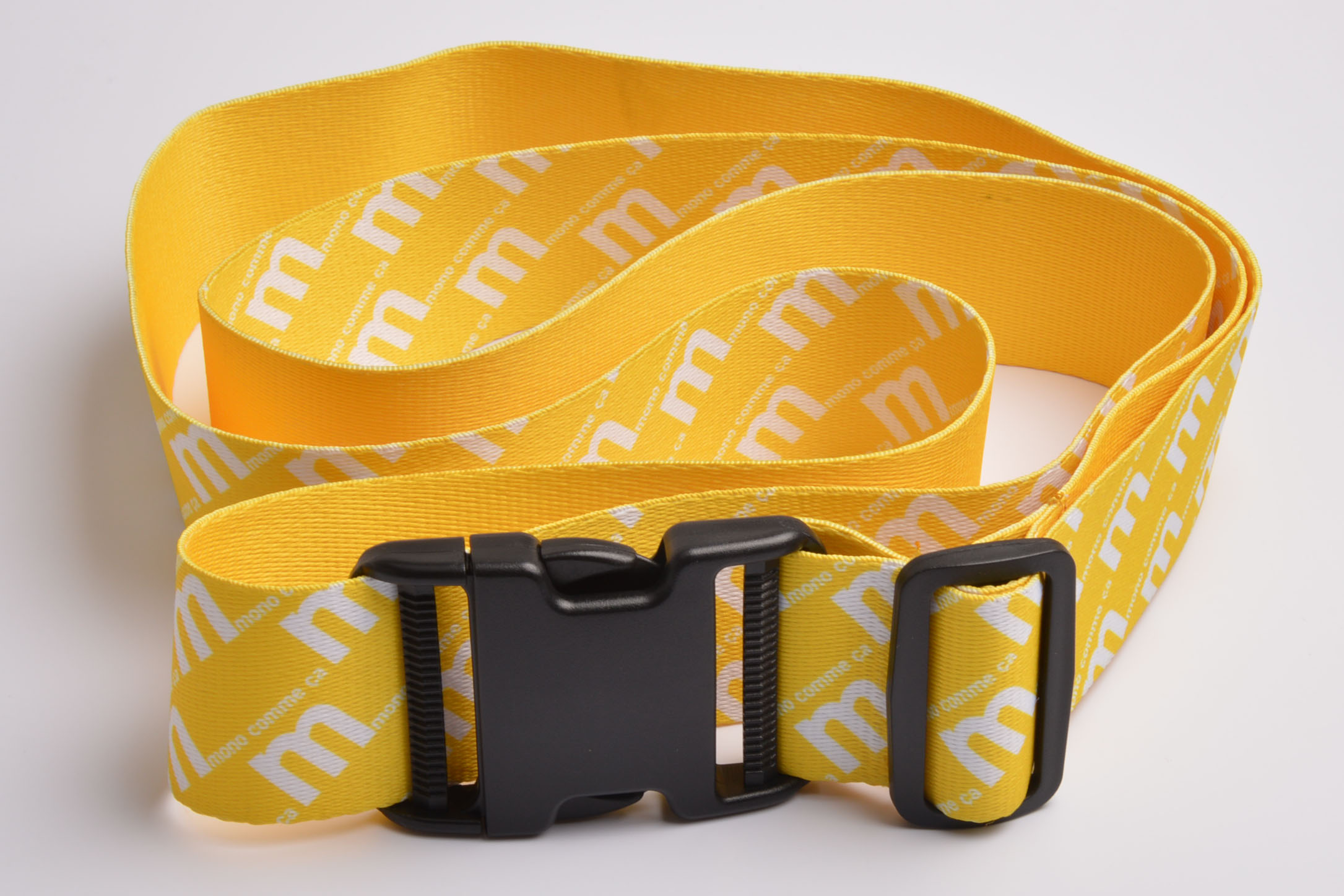 Polyester Custom Sublimation Logo Adjustable Luggage Strap Belt