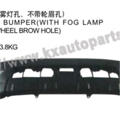 TOYOTA HILUX VIGO 2004-2007 FRONT BUMPER WITH FOG LAMP HOLE WITHOUT WHEEL BROWHOLE