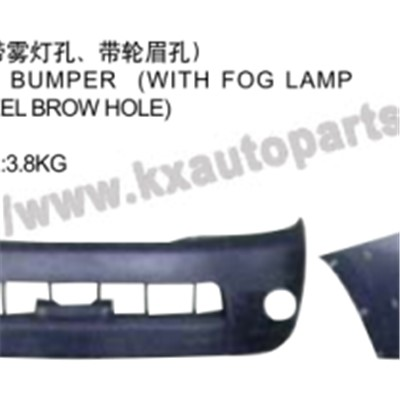 TOYOTA HILUX VIGO 2004-2007 FRONT BUMPER WITH FOG LAMP HOLE WITH WHEEL BROWHOLE