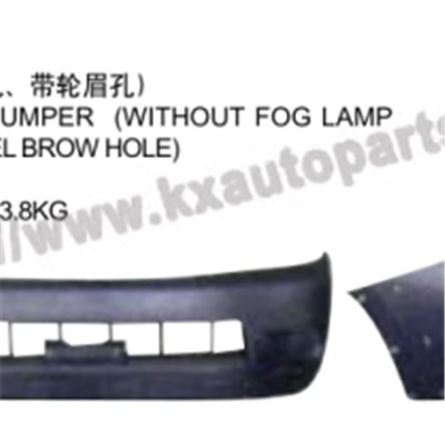 TOYOTA HILUX VIGO 2004-2007 FRONT BUMPER WITHOUT FOG LAMP HOLE WITH WHEEL BROWHOLE