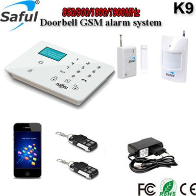 2016 New, GSM-K9 2g 3g GSM Alarm System, Support IP Camera