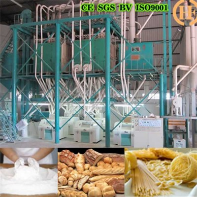 Brazil Wheat Flour Making Machine 60T Per 24h