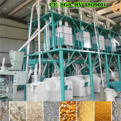 Mozambique Corn Mill Machine 50T Per 24h