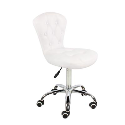 PU Leather Adjustable Kitchen Chair With Wheels
