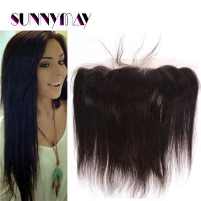 Sunnymay Human Hair Virgin Straight Lace Frontal Closure Brazilian 7A Bleached Knots Unprocessed Straight Virgin Lace Frontals Price: US $60.00 - 96.84 / Piece