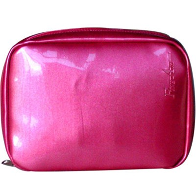 Varnished PVC Leather With Metallic Appearance Cosmetic Bag