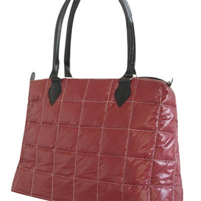 Taffeta Quilted With Check Pattern Ladies'' Fashion Handbag