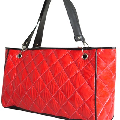 Woman Lady Quilting Bag With Large Zipper Tote Bag