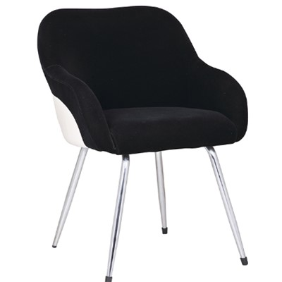 Home Use Black Fabric Bar Stool