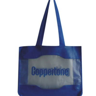 Coppertone Blue Transparent Beach Bag