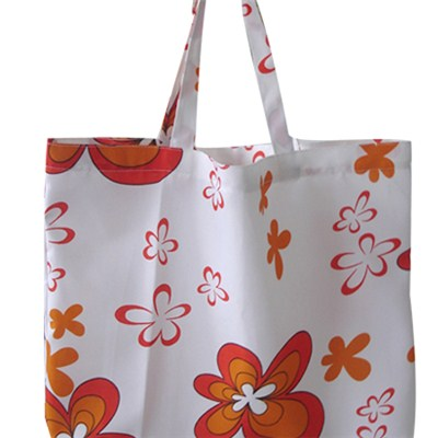 Red Flowers Printed Beach Bag