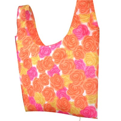 Yellow And Red Flowers Beach Bag